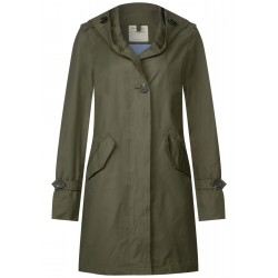 Parka with wide hood and buttons by Street One