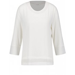3/4-sleeve top with a chiffon trim by Gerry Weber Collection