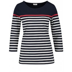 3/4-sleeve top with a striped pattern by Gerry Weber Collection
