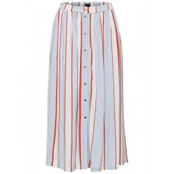 Striped maxi skirt by Selected