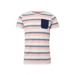 T-shirt with all-over stripes by Tom Tailor Denim