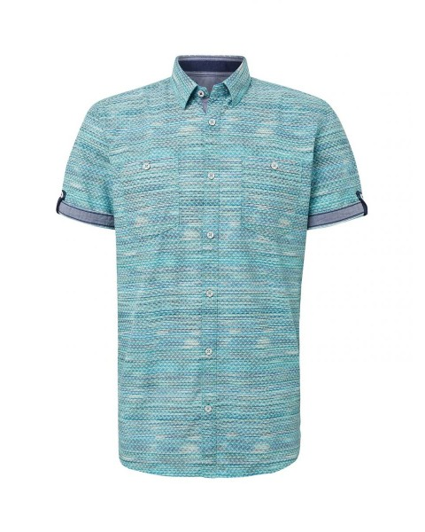 T-shirt with all-over patterned by Tom Tailor
