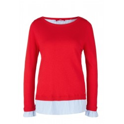Pullover im 2-in-1-Look by s.Oliver Red Label