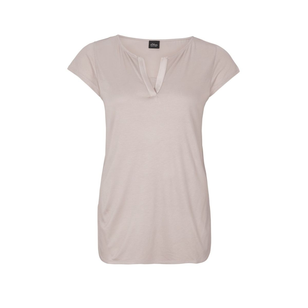 Premium-Auswahl 07714 09074 Long top with blouse details by s.Oliver Black Label - beige ...