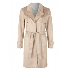 Faux suede trench coat by s.Oliver Red Label