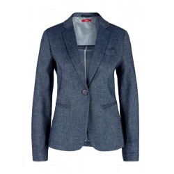 Kurzblazer aus Leinen-Twill by s.Oliver Red Label