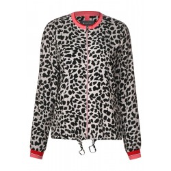 Blouson mit Leoprint by Street One