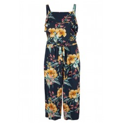 Off-the-shoulder jumpsuit with a floral print by s.Oliver Red Label