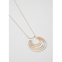 Long necklace with a round pendant by s.Oliver Black Label