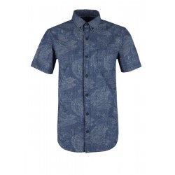 Slim: Cotton shirt with a print by s.Oliver Red Label
