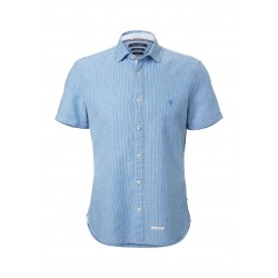 Short-sleeve shirt made from a fine linen-cotton blend by Marc O'Polo