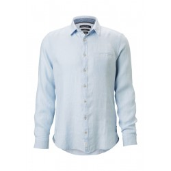 Long sleeve shirt shaped in light linen quality by Marc O'Polo