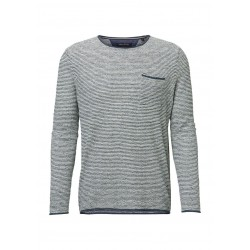 Long-sleeve pullover in a soft linen-cotton blend by Marc O'Polo