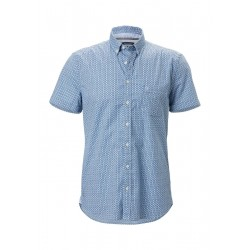 Short sleeve shirt shaped in high-quality poplin quality by Marc O'Polo