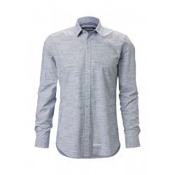 Long sleeve shirt shaped made of cotton stretch quality by Marc O'Polo