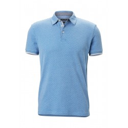 Polo shirt shaped in jersey jacquard quality by Marc O'Polo