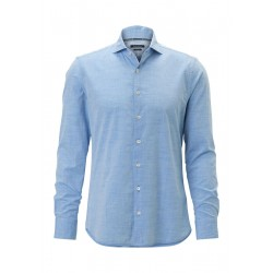 Long sleeve shirt shaped made of light cotton Chambray by Marc O'Polo