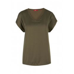 S.oliver Red Label T-shirt Mit Satin-front Khaki
