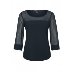 T-shirt with chiffon details by s.Oliver Black Label