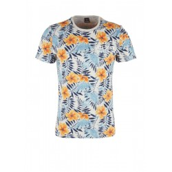 Slim: Jerseyshirt mit Tropical-Print by s.Oliver Red Label