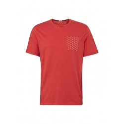 T-shirt with chest pocket in print look by Tom Tailor