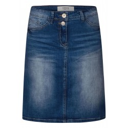 Denim skirt with Galon stripes by Cecil