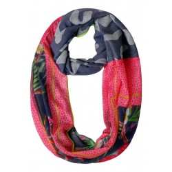 Loop with patchwork print by Cecil