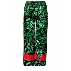 Airy palm print pants by Street One