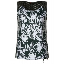 Sleeveless shirt with palm trees by Street One