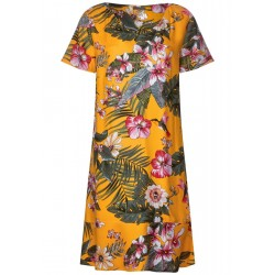 Shirt dress with floral print by Street One