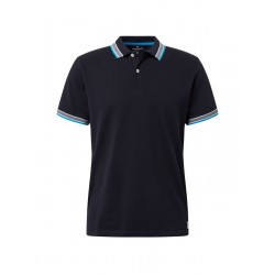Polo shirt with contrasting sleeves and collar by Tom Tailor