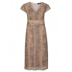Chiffon dress with an animal print by s.Oliver Black Label