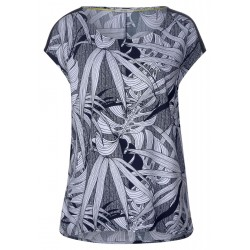Shirtbluse mit Blätterprint by Cecil