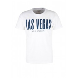 Jerseyshirt mit Vegas-Wording by s.Oliver Red Label