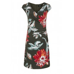 Tailliertes Cache Coeur-Kleid by s.Oliver Black Label