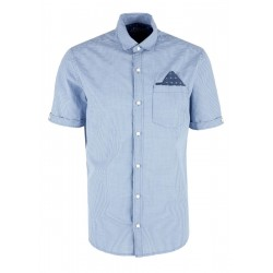 Regular: Short sleeve shirt with a gingham pattern by s.Oliver Red Label