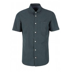 Slim: Shirt with linen by s.Oliver Red Label