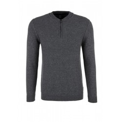 Pullover mit Zipper aus Melangegarn by s.Oliver Red Label