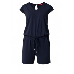 Jersey jumpsuit with mesh sleeves by s.Oliver Red Label