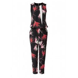 Print jumpsuit with a layered effect by s.Oliver Black Label