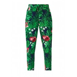 Harem trousers with a printed pattern by s.Oliver Red Label