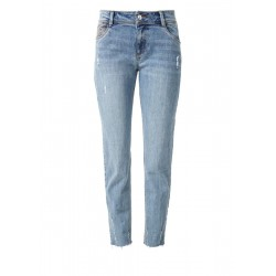Cropped Straight: Used Denim by s.Oliver Red Label