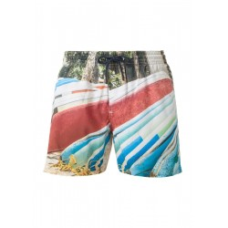 Badeshorts mit Beach-Print by s.Oliver Red Label