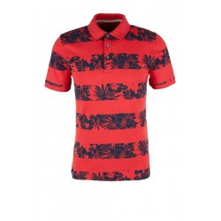 Slim: jersey polo shirt with print by s.Oliver Red Label