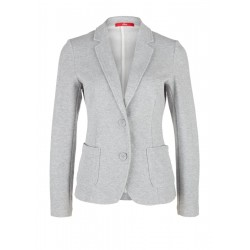 Sweatshirt blazer with a textured pattern by s.Oliver Red Label