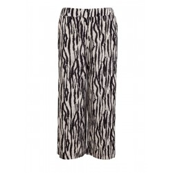 Culottes: Crêpe trouser with a printed pattern by s.Oliver Black Label