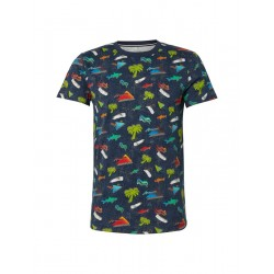 T-shirt with all-over print by Tom Tailor Denim