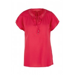 Viscose blouse with lace by s.Oliver Red Label