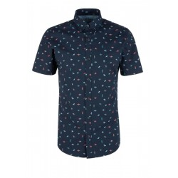 Slim: Short sleeve shirt with an all-over print by s.Oliver Red Label