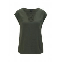 Blouse top with an embroidered insert by s.Oliver Black Label